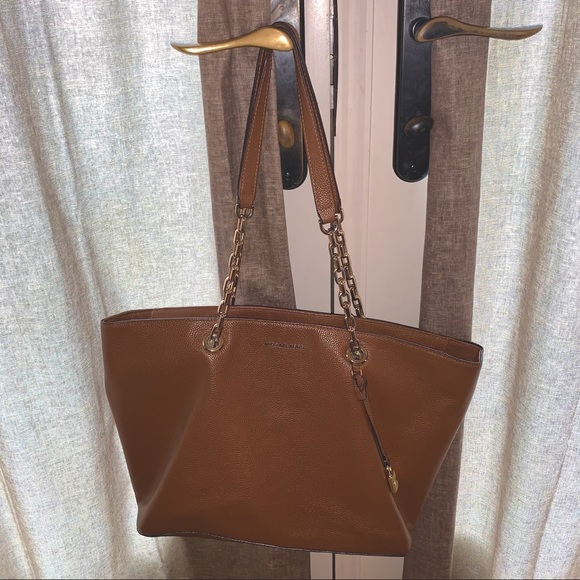 Michael Kors Large Tote Bag with Chain Detail